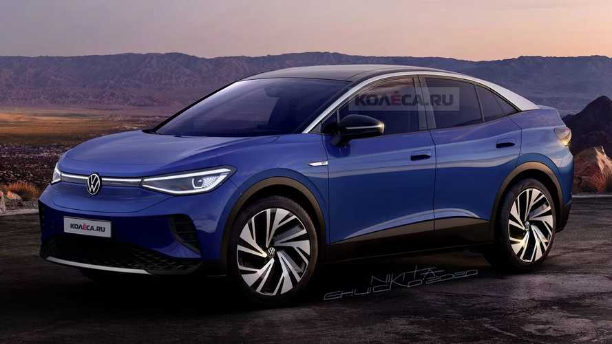 Rendering Perfectly Predicts Volkswagen ID.4 Coupe Exterior Design