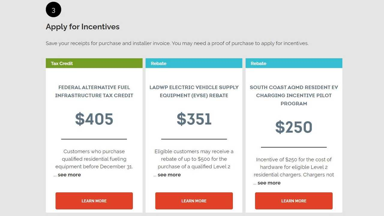 Electrify America home charging online tool