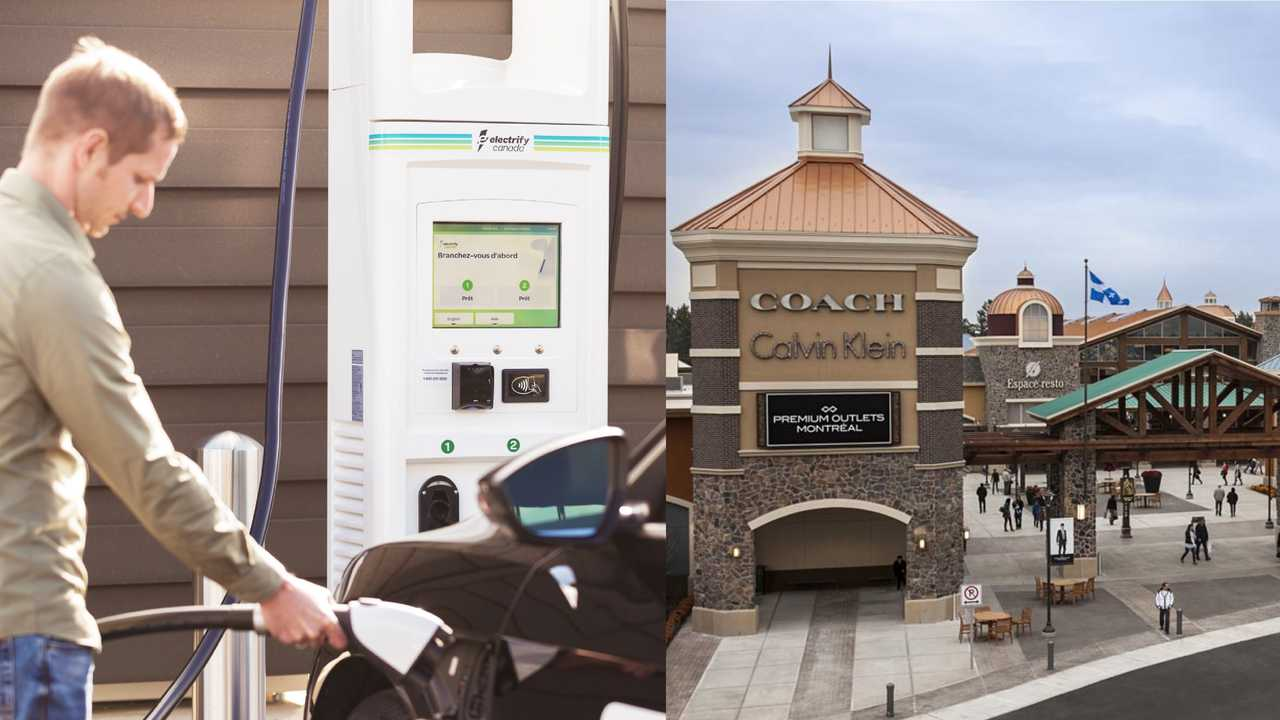 Electrify Canada charging station in in Quebec