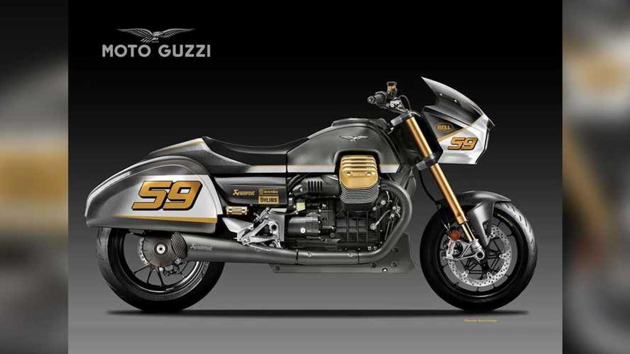 Oberdan Bezzi Moto Guzzi Racing Bagger