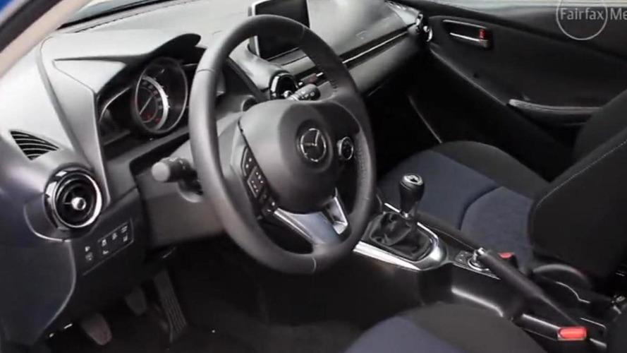 2015 Mazda2 interior cabin indirectly revealed [video]