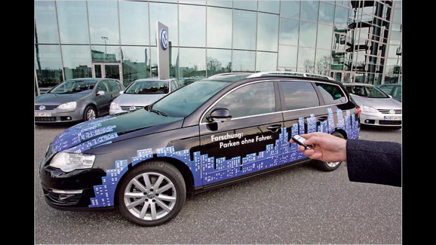 Einparken ohne Fahrer: Park Assist Vision von Volkswagen