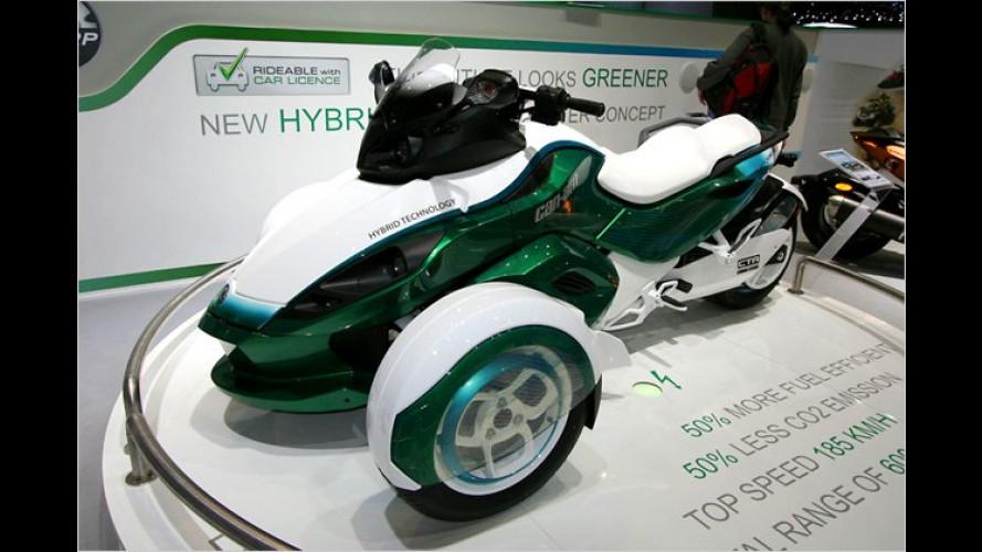 BRP zeigt den Can-Am Spyder Roadster als Plug-in-Hybrid