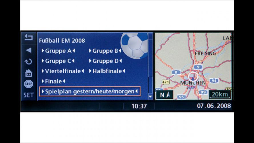 BMW bietet Ergebnisdienst zur EM für fast alle Fahrzeuge