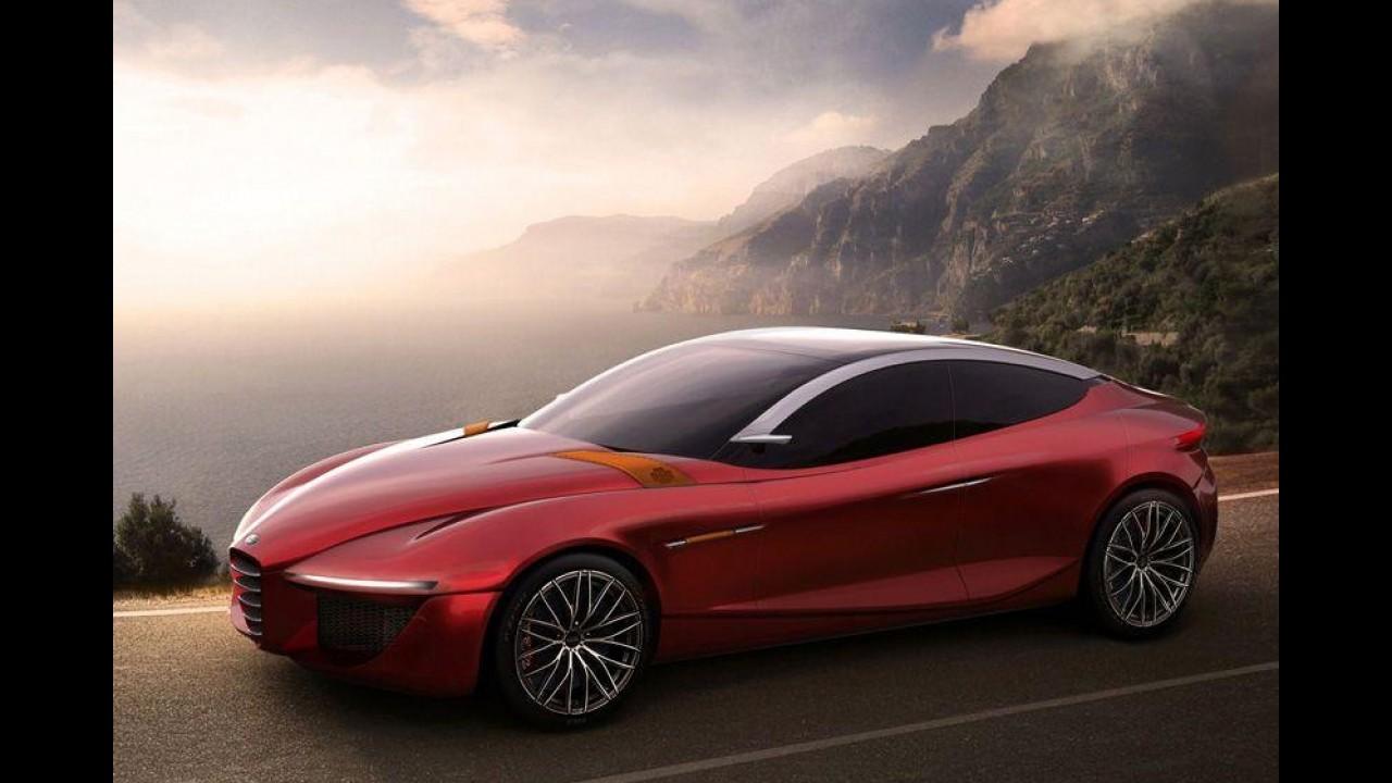 Alfa Romeo Gloria Concept antecipa novo sedã esportivo da marca - Modelo estará em Genebra