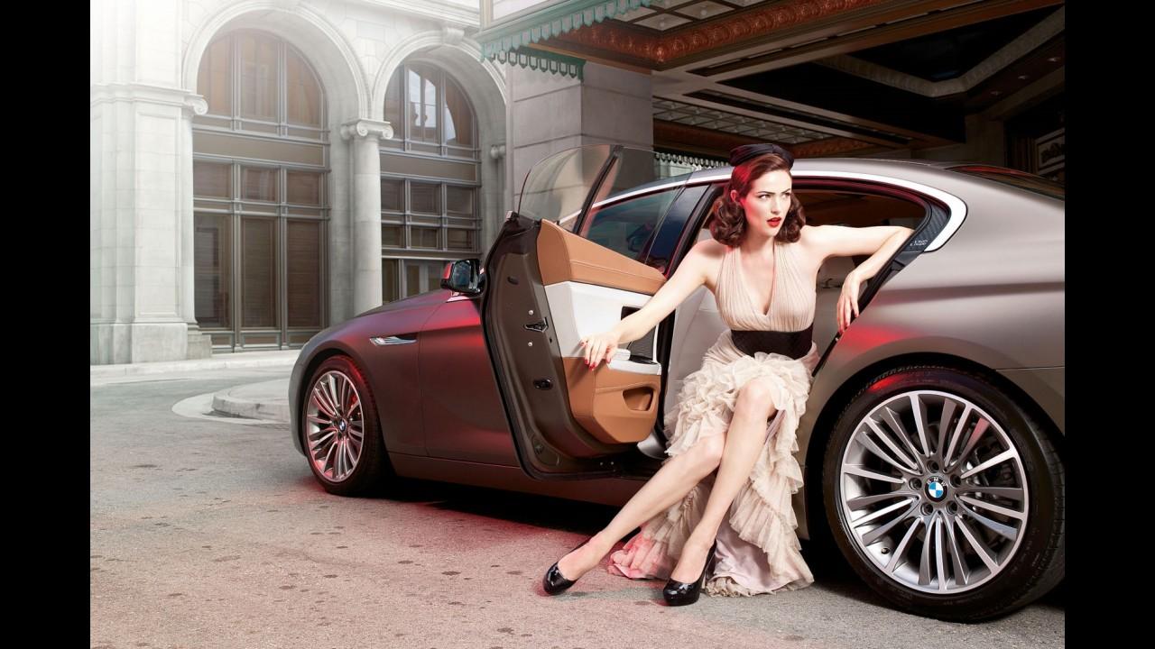 BMW faz ensaio fotográfico com o Gran Coupé, mas carro é figurante