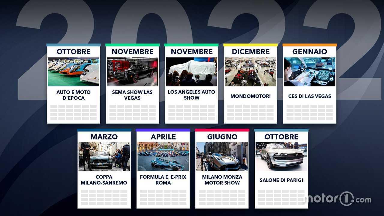 Tutti gli eventi auto 2021-2022