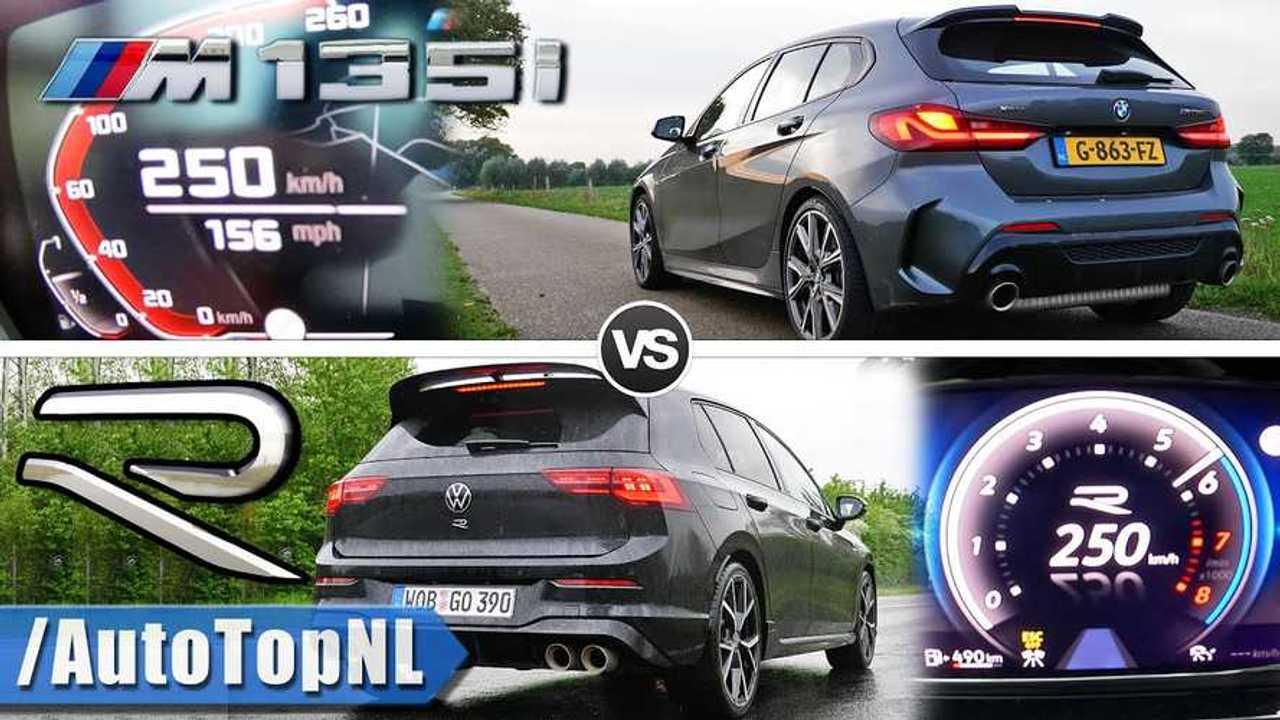 VW Golf R vs. BMW M135i