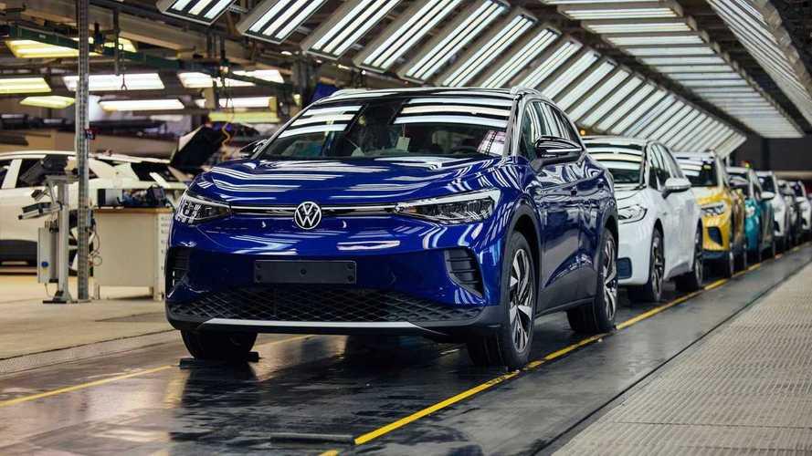 Volkswagen quase triplica vendas de carros elétricos em 2021