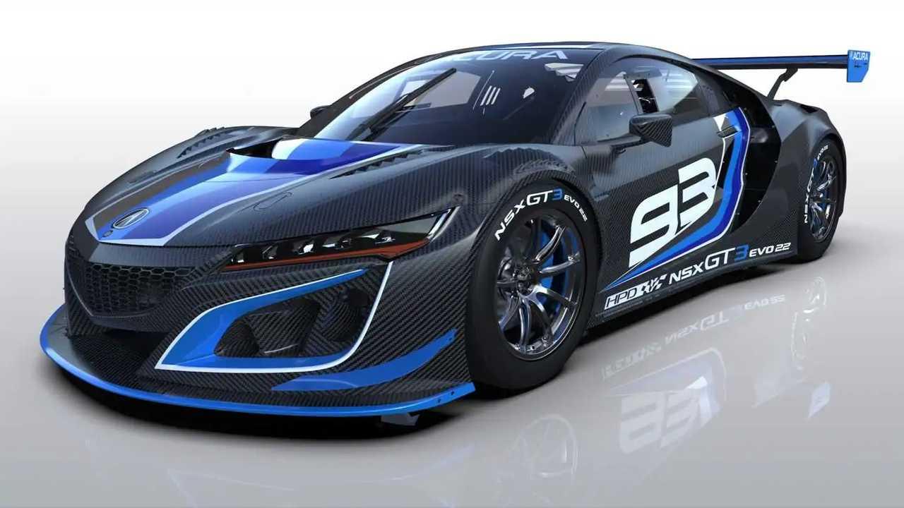 Mobil balap Acura NSX mendapatkan peningkatan.