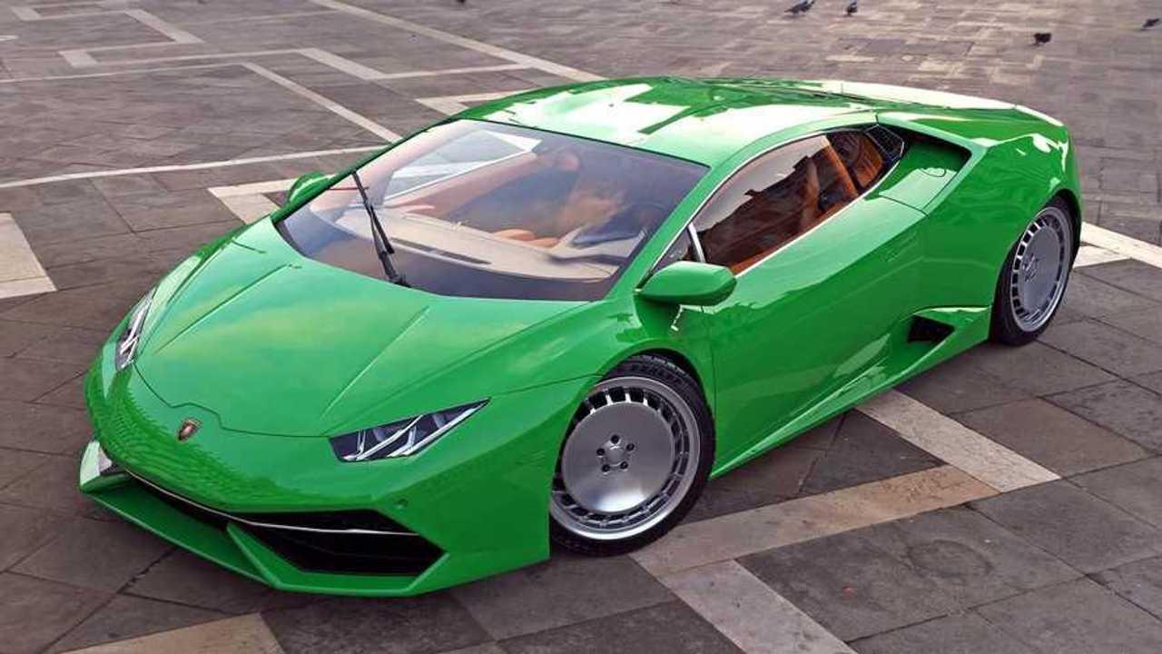 Lamborghini Countach a Huracán alapján, renderképek