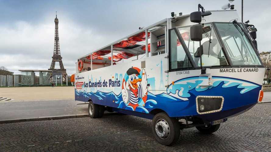 Bus Wisata di Paris Ini Bisa Berlayar Juga, Amfibi Plug-in Hybrid