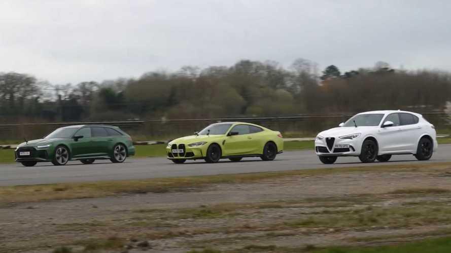 BMW M4 Drag Race With RS6 Avant, Stelvio QV Is Shockingly Close
