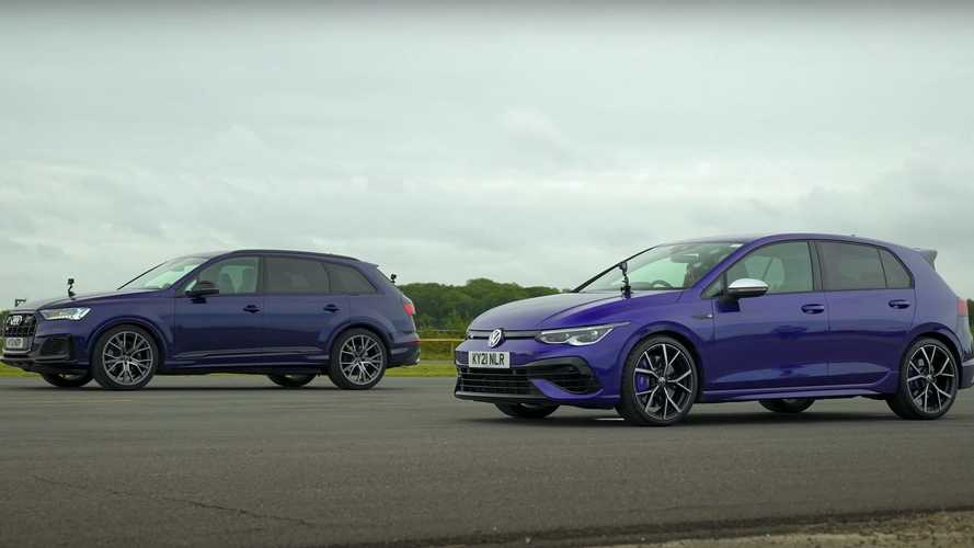Can The VW Golf R Beat A V8-Powered Audi SQ7 In A Drag Race?