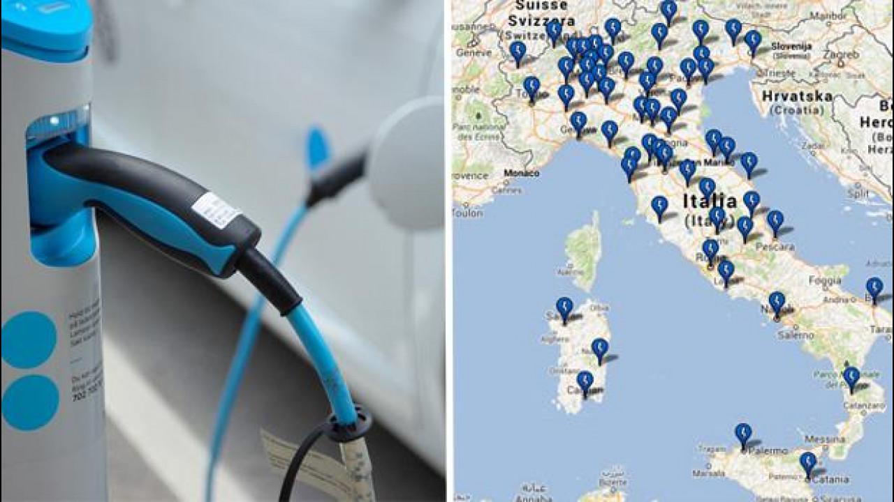 [Copertina] - Auto elettriche, mappa delle colonnine di ricarica e stato della rete in Italia