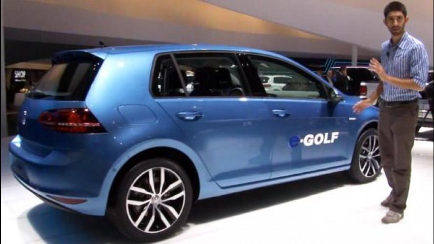 Salone di Francoforte, che effetto fa la Volkswagen Golf elettrica [VIDEO]