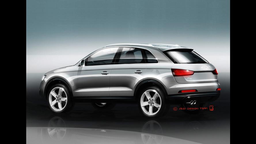 Audi Q3, i primi bozzetti