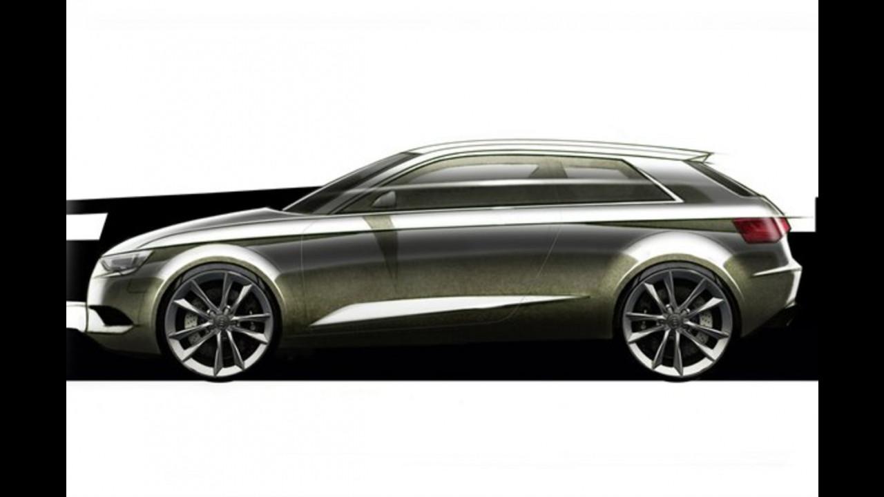Nuova Audi A3, i primi bozzetti