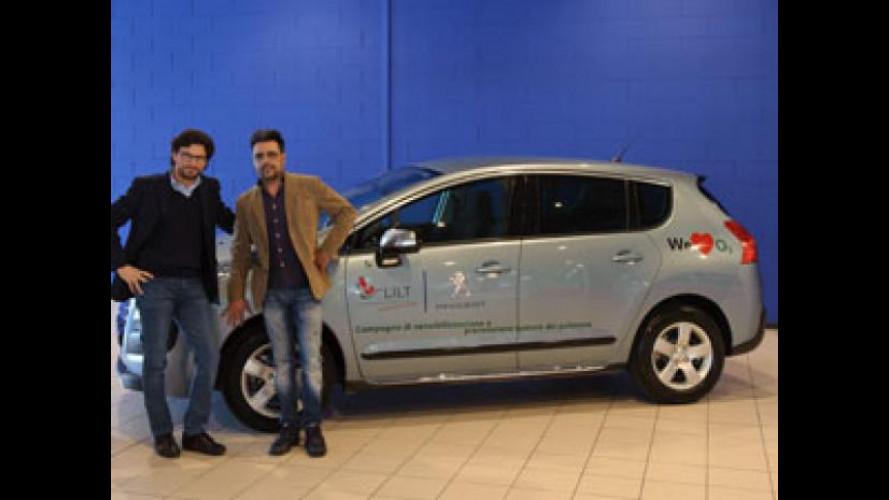 Una Peugeot 3008 HYbrid4 alla Lega Italiana per la Lotta contro i Tumori