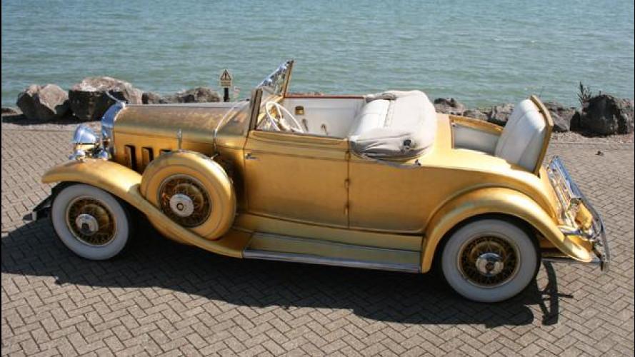 Una Cadillac tutta d'oro è l'auto più prestigiosa dell'asta Barons