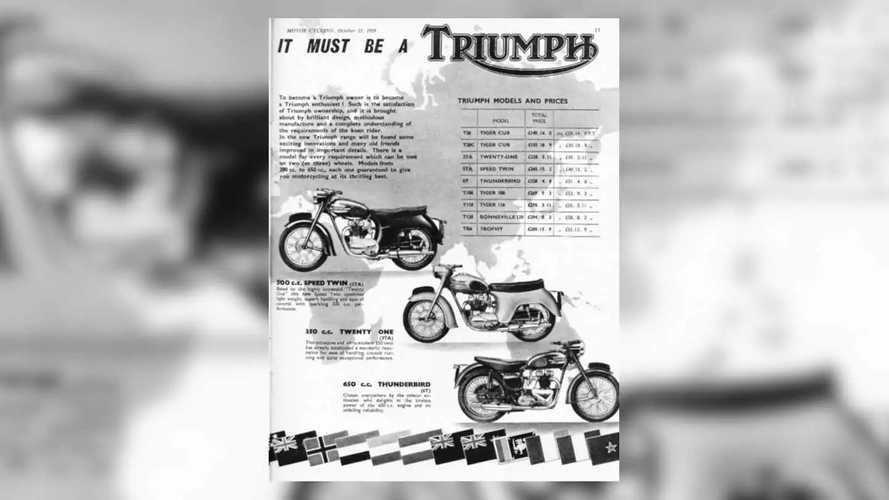 Triumph Bonneville Advertisements
