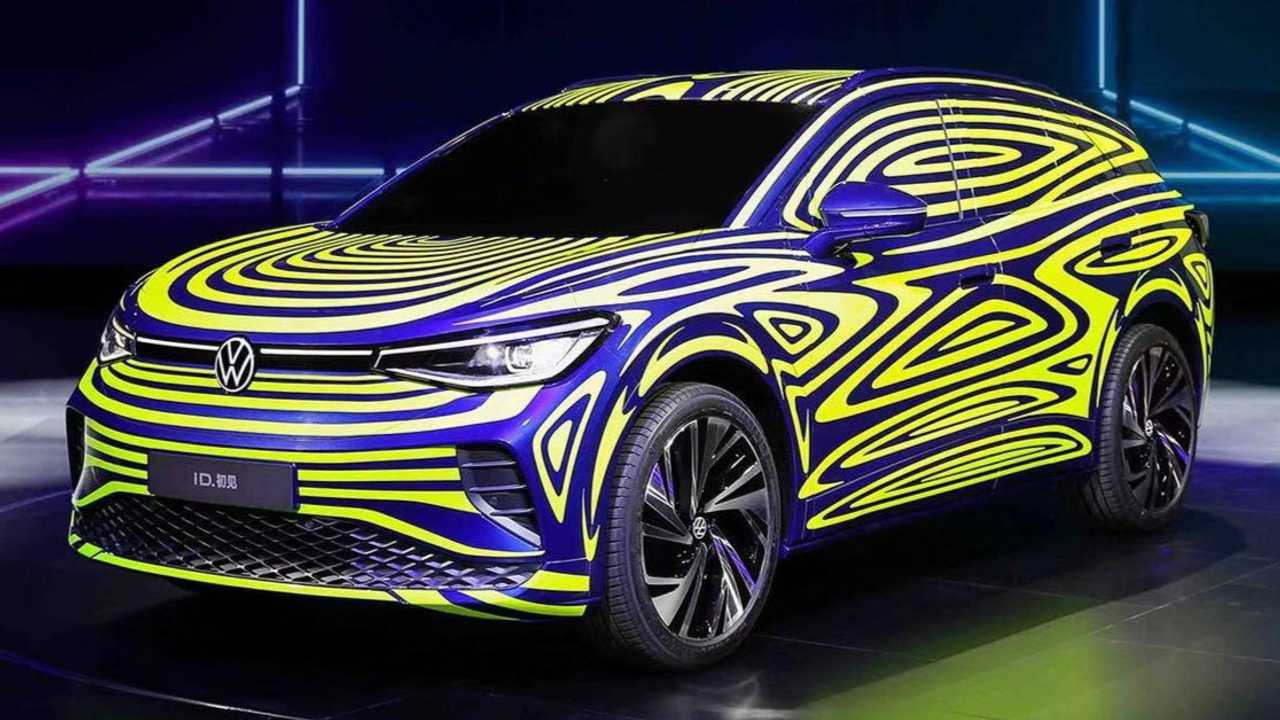 vw id4 teased in china but electric crossover is coming
