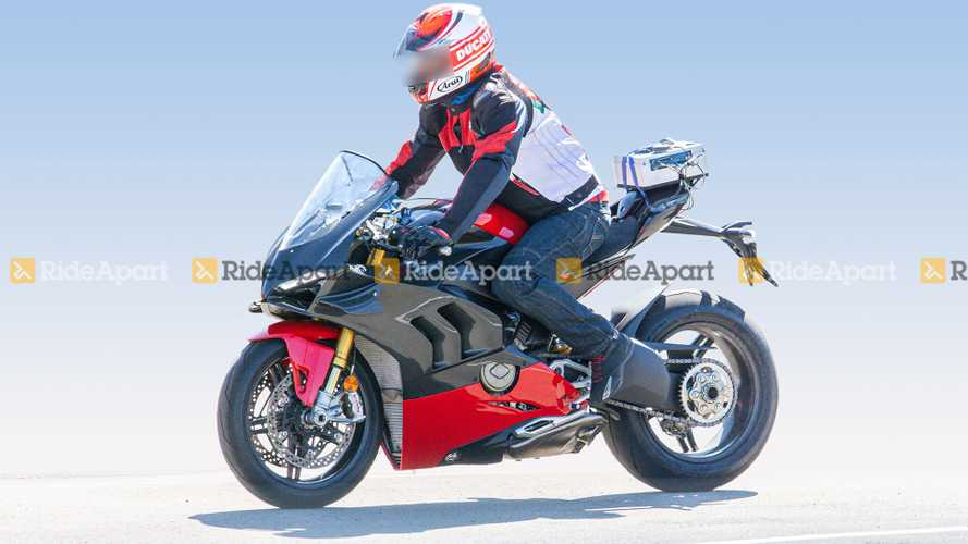 Spotted: The Ducati Panigale V4 Superleggera Is Coming