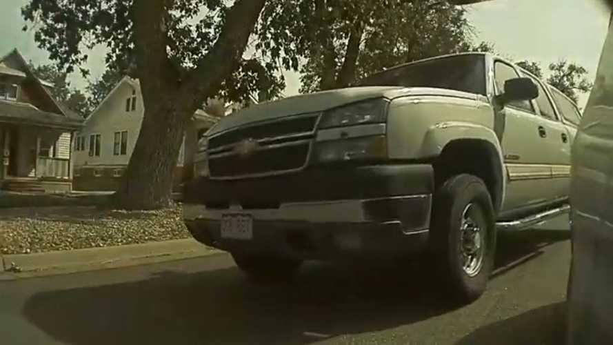 TeslaCam Captures Accident During Lane Change Between Truck And Sedan