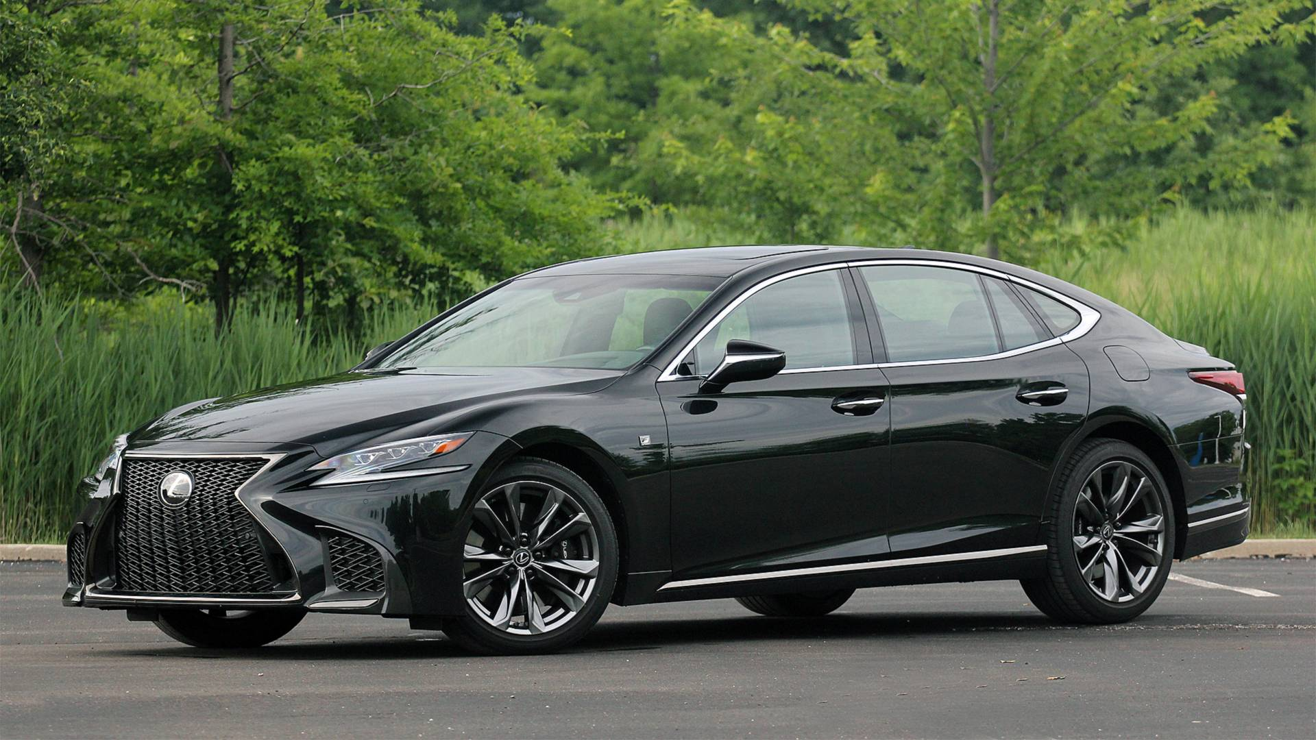 2018 Lexus Ls 500 F Sport Middle Of The Pack