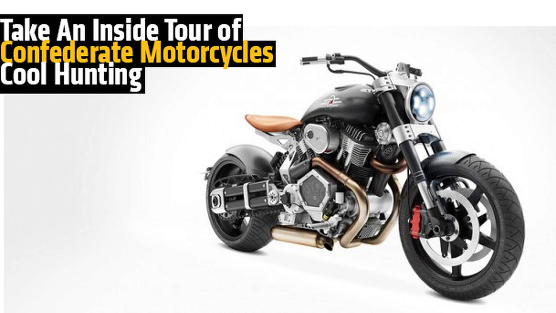 take an inside tour of custom motorcycle builders confederate