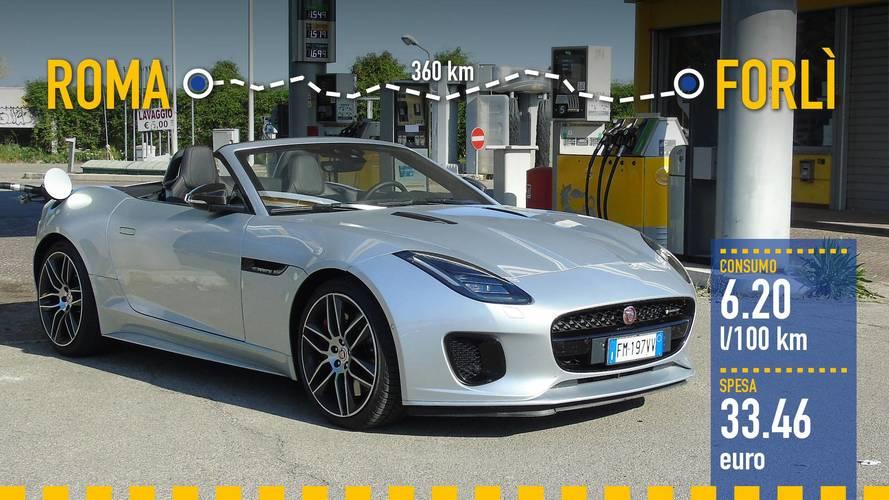 Jaguar F-Type Convertibile: реальный расход топлива
