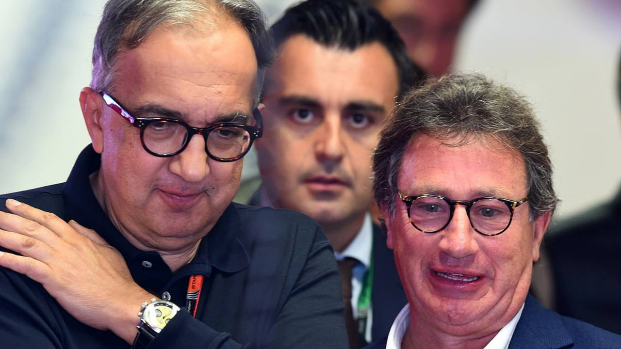 Sergio Marchionne, CEO FIAT and Louis Camilleri, Chairman of Philip Morris