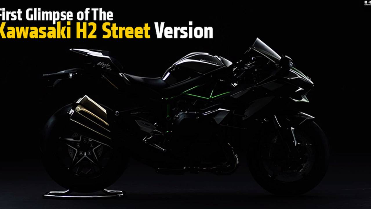 First Photo of the Kawasaki H2 Street Version