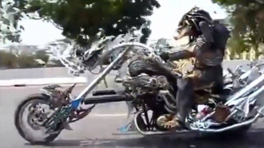 Video: Is That a Predator Biker?– Now We've Seen it All