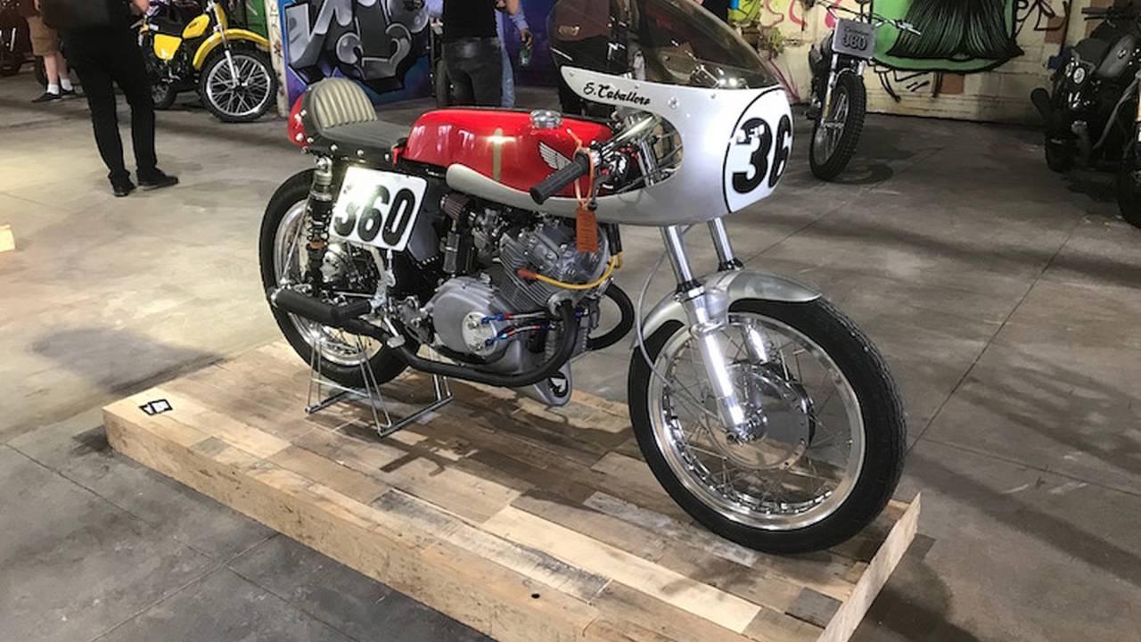 Steve Caballero's Honda CB cafe racer from Texas's Denton Moto Collective