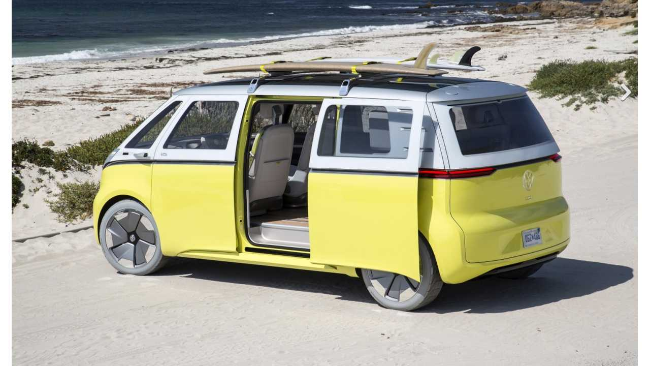VW I.D. BUZZ...which will need to lose those custom Hankook show wheels if it truly wants to live at the beach