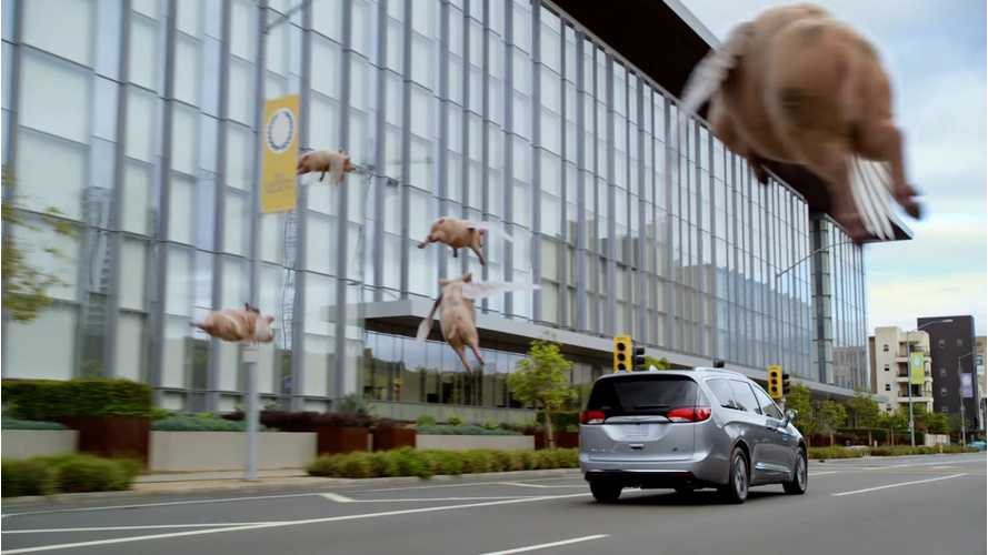 Pigs Actually Do Fly In Chrysler Pacifica Hybrid Commercial