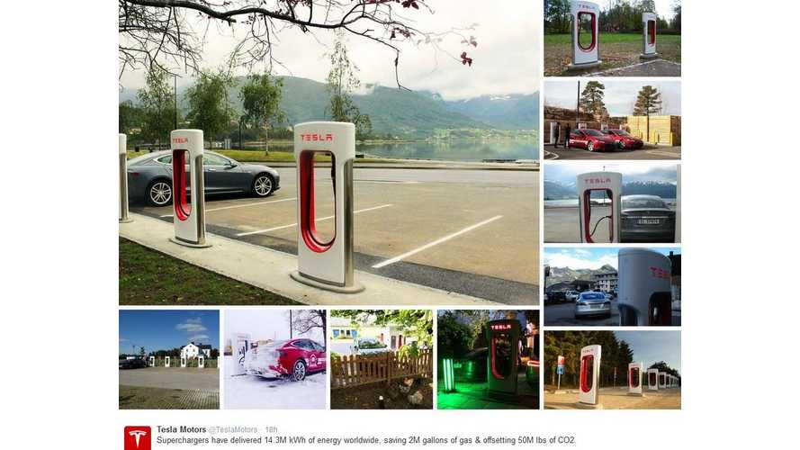 Tesla Superchargers Have Delivered 14.3 Million kWh