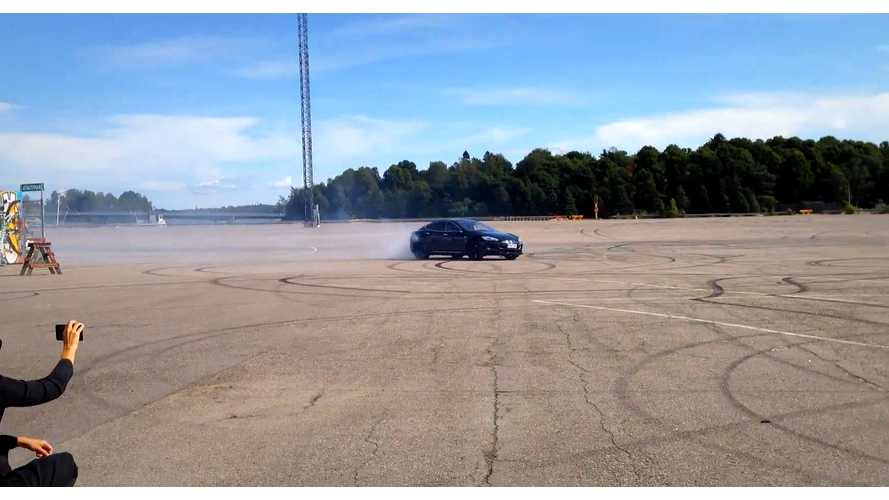 Drifting A Tesla Model S - Video