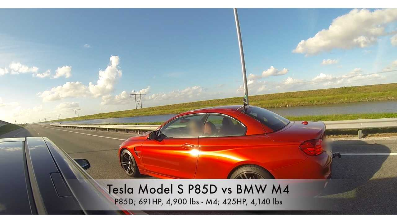 Tesla Model S P85D vs. BMW M4