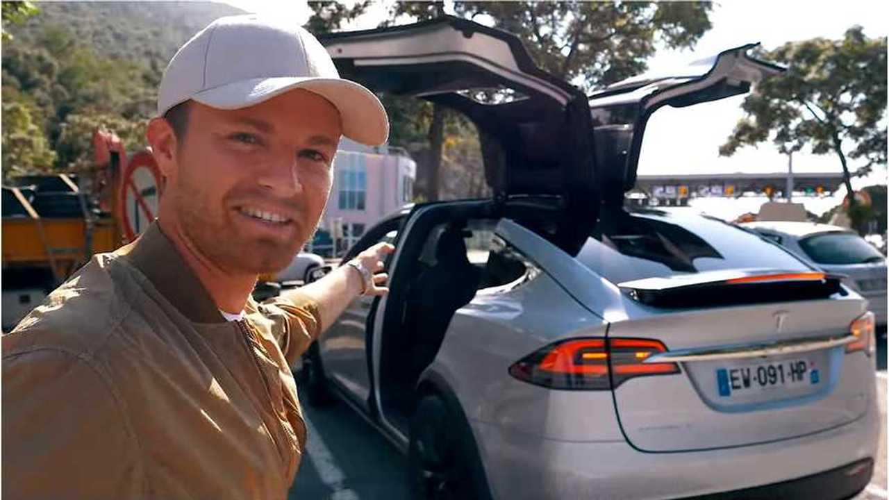 Nico Rosberg Drives Tesla Model X - Calls Musk Crazy