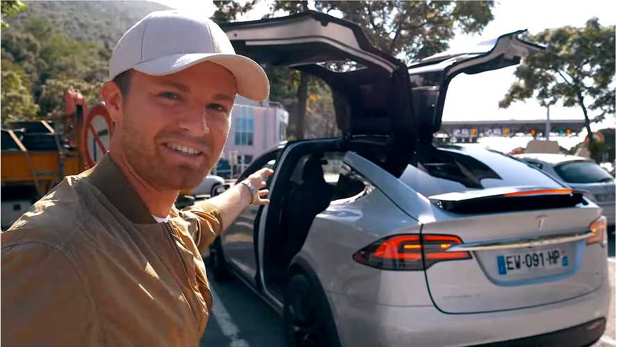 Nico Rosberg Drives Tesla Model X - Calls Musk Crazy