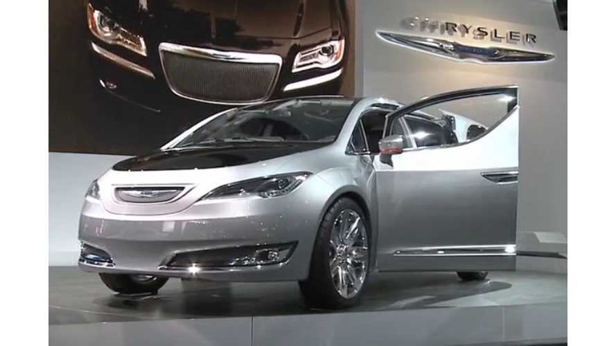 Chrysler Teases EV Reveal For NAIAS, Extended Range Town & Country With...