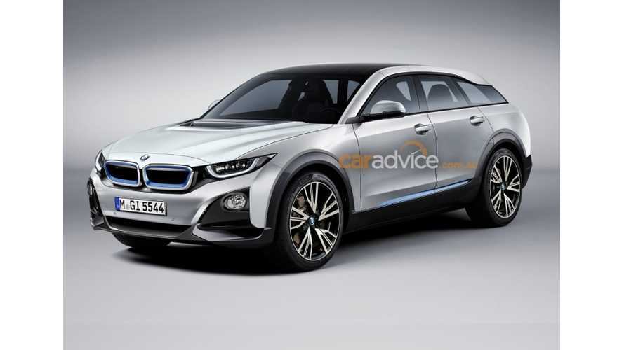 Electric BMW SUV Rendered