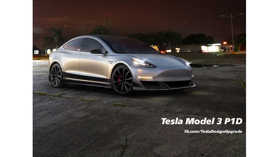 Tesla Model 3 P1D Rendered