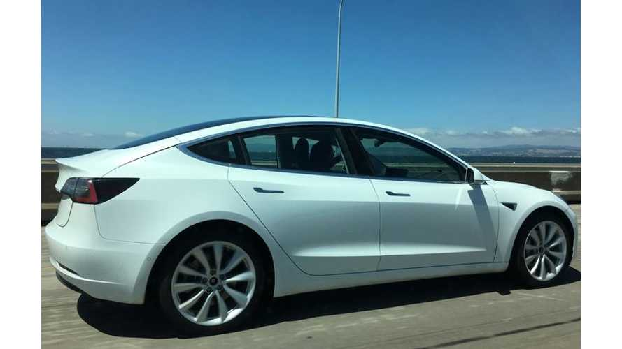 36 High-Res Images Of White Tesla Model 3 (w/video)