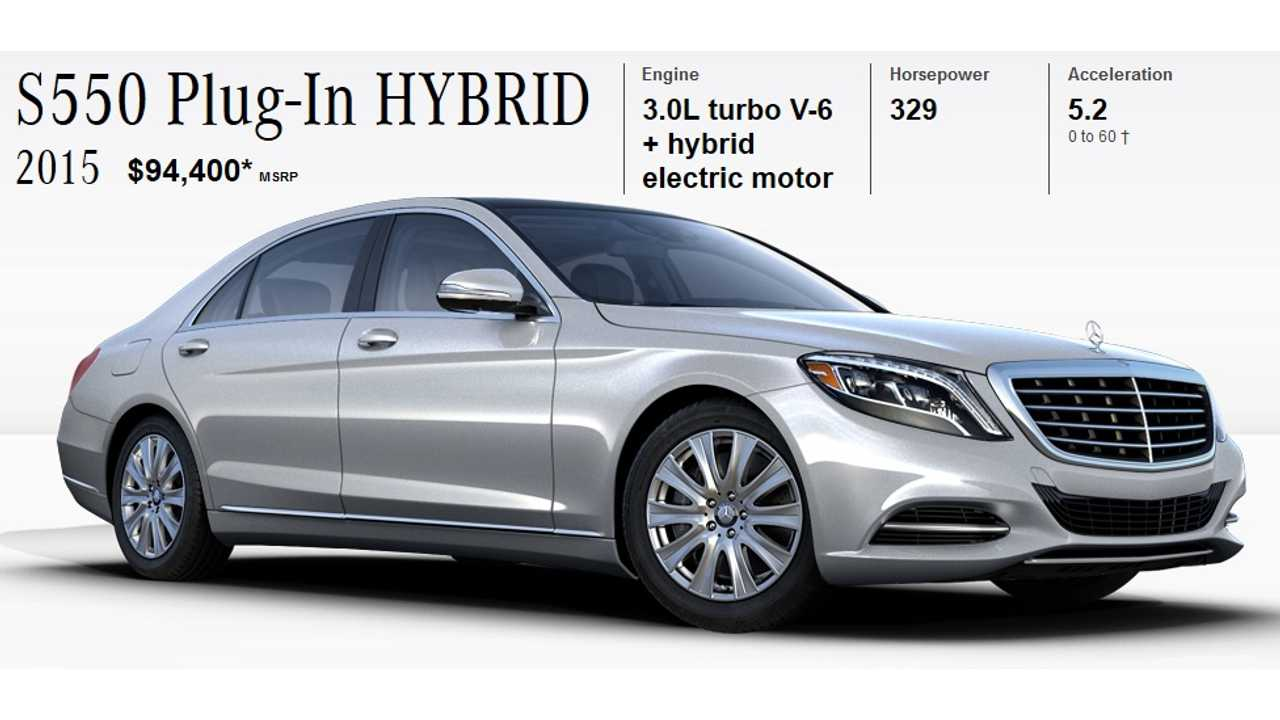 Mercedes Benz S550 Plug In Hybrid Arrives Us