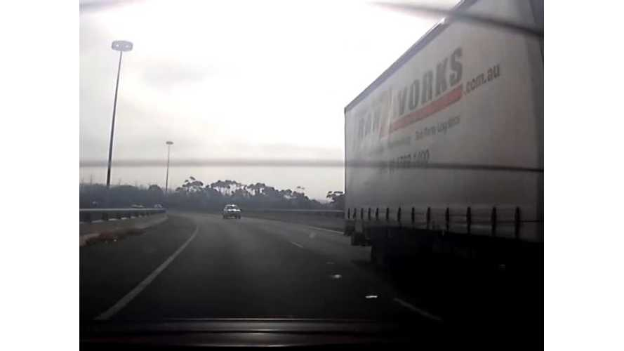 Lane Assist Prevents Tesla Model S From Colliding With Truck - Video
