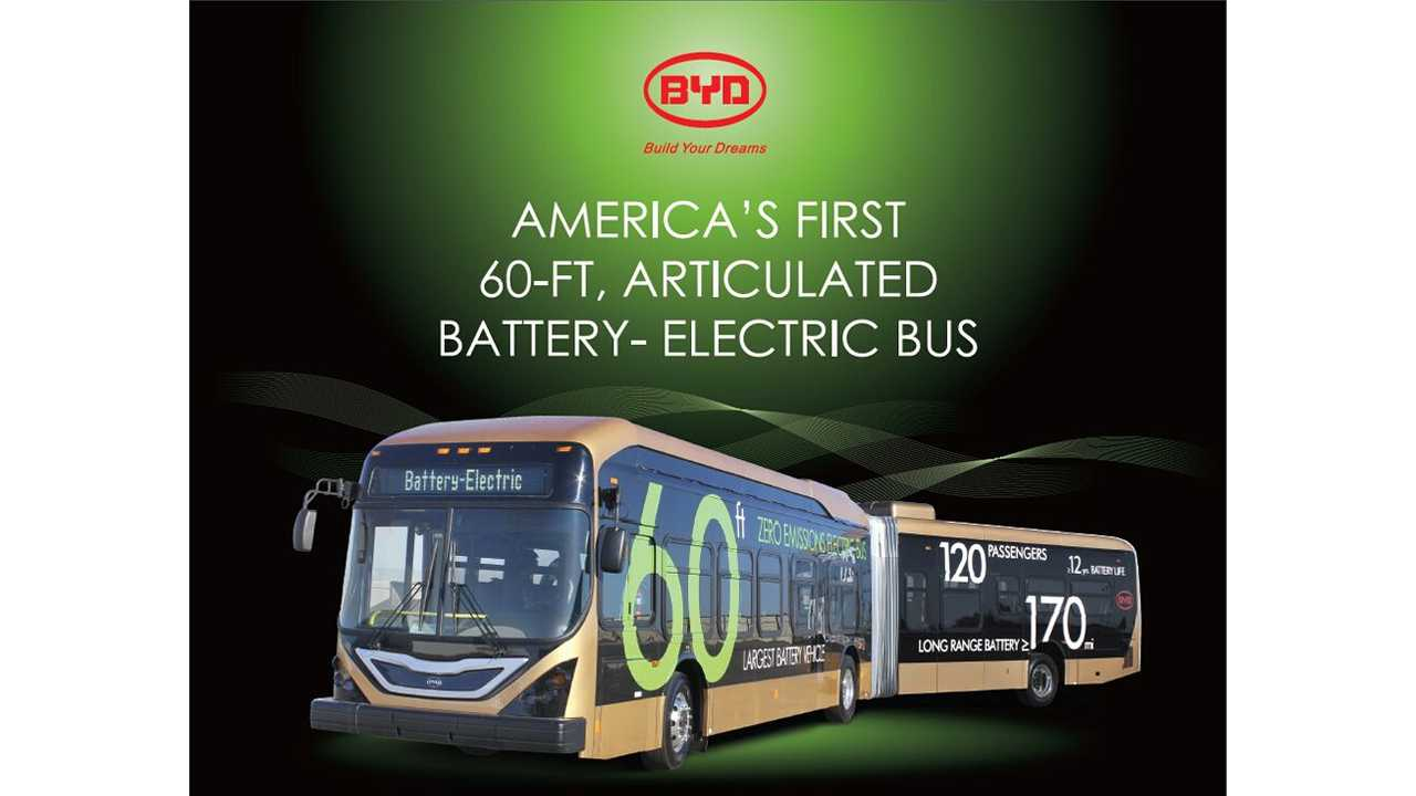 2014 BYD 60-ft Electric Transit Bus