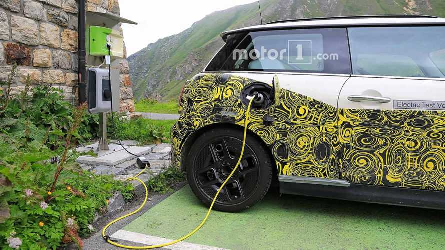 Electric Mini Test Mule Spied Charging Up